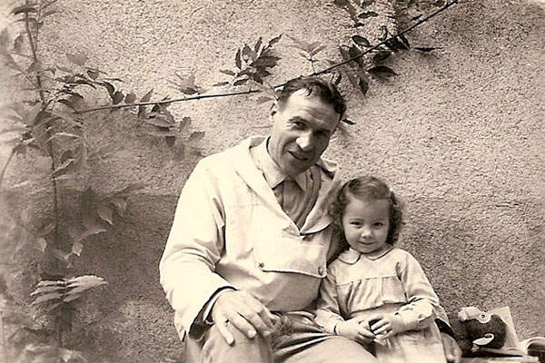 René Teil et sa petit fille Zounette