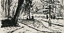 Le parc de Chelles en hiver